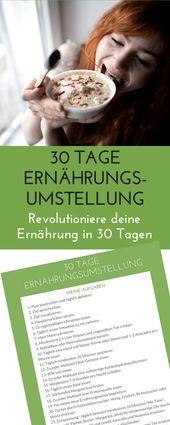 Challenge Ernährungsumstellung: Wie Du in 30 Tagen deine Ernährung revolutionierst – Laufvernarrt