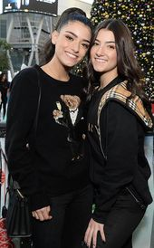 Charli and Dixie D'Amelio from Celebrities Celebrate the Holidays 2019: Christmas, Hanukkah and More
