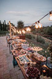 Cosmic Inspired Destination Wedding Barcelona With Epic Dessert Table