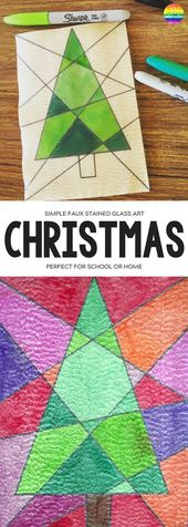 EASY CHRISTMAS CHRISTMAS ART – FAUX STAINED GLASS