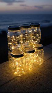 Firefly Lichter und Mason Jar, Outdoor Lightning, rustikal, Lichterketten, Mason Jar Lichter, Lichterkette, Hochzeitslichter, Hochzeit Herzstück