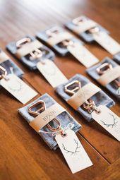 Gastgeschenk-Ideen für die Hochzeit – 40 aussergewöhnliche Erinnerungen für Ihre Gäste!