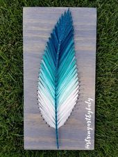 Multicolored Feather String Art