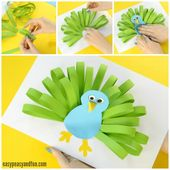 Paper Peacock Craft – Easy Peasy and Fun