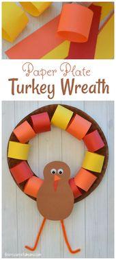 Paper Plate Turkey Wreath Craft