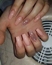 Pastell Garden Rose mit Mixed Glitter Fashion # Fashionnails #gelenaglarstockhol…