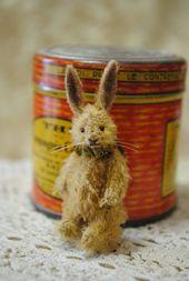 Tiny bunny,miniature teddy bear artist by Junko Fujinami