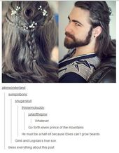 When this guy's beautiful hair and beard were too much to handle.