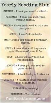 Yearly Reading Plan – Foodtastic Mom