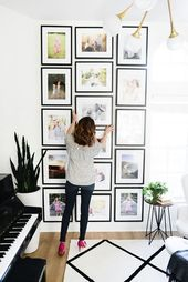 15 DIY Photo Gallery Wall Ideas For Your Home – Nikki's Plate