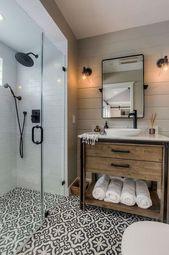78+ Luxus Bauernhaus Fliesen Dusche Ideen umgestalten #Farmhouse #Duschzimmer #R…
