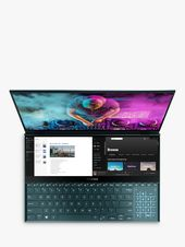 """ASUS ZenBook Pro Duo UX581GV-H2001T Laptop with ScreenPad Plus, Intel Core i9, 32GB RAM, NVIDIA GeForce RTX 2060, 1TB SSD, 15.6"""" OLED 4K Touchscreen, Celestial Blue"""