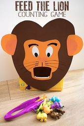 DIY Feed the Lion Counting Game for Toddlers & Preschoolers