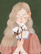 De volta ao retrô: Blossom: mulheres e flores pelo traço poético e delicado da ilustradora Ashui