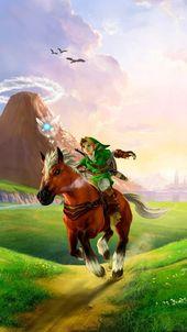 Download The Legend Of Zelda Ocarina Of Time 3D HD Wallpaper In 480×854 Screen…