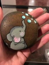 Easy Paint Rock zum Ausprobieren (Stone Art & Rock Painting Ideas)