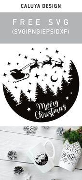 Free Christmas Snow Globe SVG Cut File