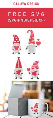 Free Loving Gnome SVG Cut File