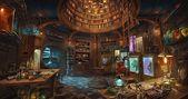 HD wallpaper: artwork, fantasy art, steampunk, room, laboratories | Wallpaper Fl…