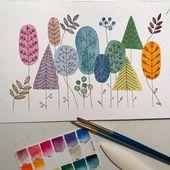 Simple Watercolour Mail Art – Maple Post