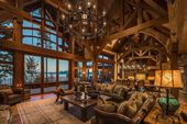 Stunning lodge style home with old world luxury overlooking Lake Tahoe