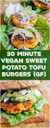 Tofu Burger Recipe with Sweet Potatoes {Vegan}