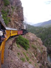 Train ride from Durango to Silverton, Colorado  we did this May 2012  Amazing vi…