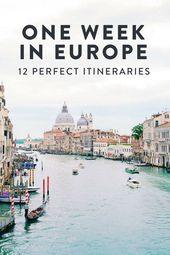 24 Perfect One Week Europe Itinerary Options — ckanani luxury travel & adventure