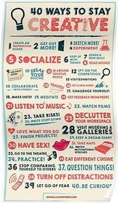 '40 Ways to Stay Creative Poster' Poster by Layerform