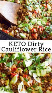 Dirty Cauliflower Rice Recipe -Low Carb, Keto, Gluten-Free, THM S
