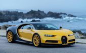 Download wallpapers Bugatti Chiron, 2017, Hypercar, yellow Chiron, supercar, Bugatti besthqwallpapers.com