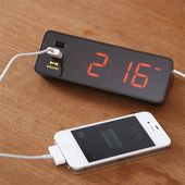 LED Alarm Clock will charge your phone at night   Coolest Gadgets