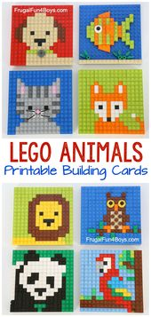 LEGO Animal Mosaic Building Cards – Frugal Fun For Boys and Girls