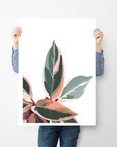 Pink & Green Leaves Pt. 2 — COLLEEN ELIZABETH ART