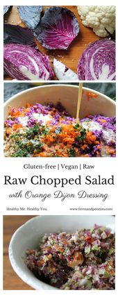 Raw Chopped Salad with Orange Dijon Dressing — Ferns & Peonies