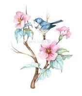 Rhododendron Print, Botanical Illustration, Watercolor Illustration, Floral Home Decor, Botanical Wall Art