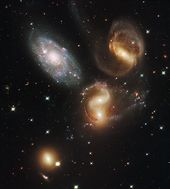 Stephan's Quintet Galaxies by Astronomy Gift Shop