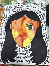 Wonder Inspired 4th grade Self Portraits