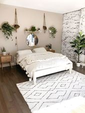first home decor #homedecor 15 Best White Boho Bedroom Design Ideas That Will Ma…