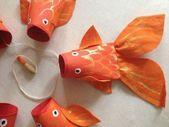 Animais feitos com rolos de papel higiênico