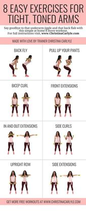 Arm Exercises with Weights for Women that want Tight, Toned Arms