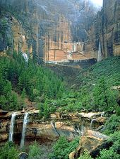 Emerald Pools, Zion National Park. We hiked the Lower, Middle and Upper Pool tra…