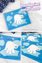 Handprint Polar Bear Craft