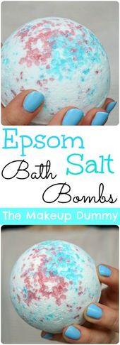 How To Make Bath Bombs with Epsom Salt