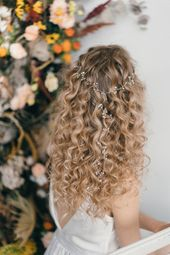 How To Style Wedding Hair Accessories With Curly Hair, Debbie Carlisle + Top Hair Care Tips for Curly Haired Brides