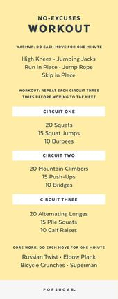 It's a Bodyweight Workout You Can Print and Do Anywhere — No Excuses!