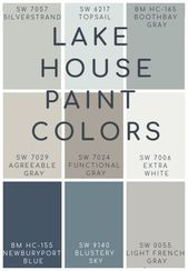Lake House Blue and Gray Paint Colors – The Lilypad Cottage