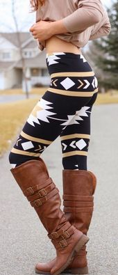 Manner, Design and style And Natural beauty : Navajo Aztec Print Leggings and enjoy these long entire…
