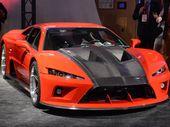 Falcon Motorsports displayed its Falcon F7 supercar,