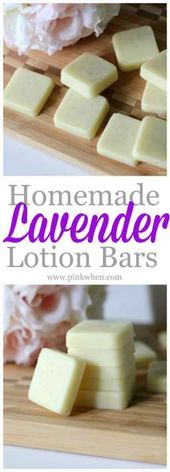 How to Make Homemade Lavender Lotion Bars – PinkWhen